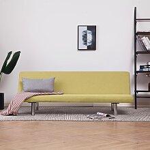 vidaXL Canapé-lit Vert Polyester