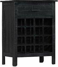 vidaXL Casier ¨¤ bouteilles Noir 56x35x75 cm
