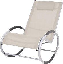 vidaXL Chaise à bascule d'extérieur Crème