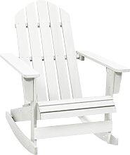 vidaXL Chaise à bascule de jardin Bois Blanc