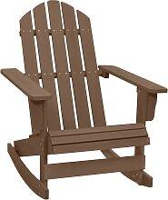 vidaXL Chaise à bascule de jardin Bois Marron