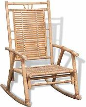 vidaXL Chaise à Bascule en Bambou Fauteuil Jardin