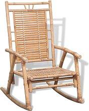 vidaXL Chaise à bascule en bambou