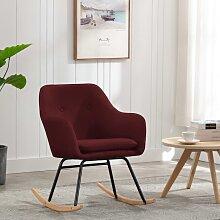 vidaXL Chaise à bascule Rouge bordeaux Tissu