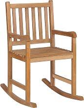 vidaXL Chaise à bascule Teck massif
