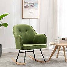 vidaXL Chaise à bascule Vert clair Velours