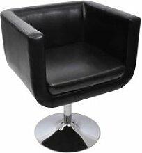 Vidaxl chaise de bar noir similicuir 240041
