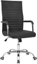 vidaXL chaise de bureau en cuir artificiel 55x63