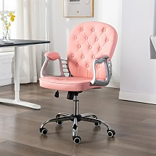 vidaXL Chaise de bureau pivotante Rose Similicuir