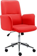 vidaXL Chaise de bureau Similicuir Rouge