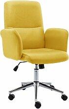 Vidaxl - Chaise de bureau Tissu Jaune