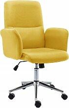 vidaXL Chaise de bureau Tissu Jaune