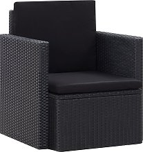 vidaXL Chaise de jardin avec coussins Résine