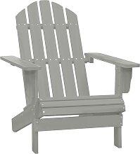 vidaXL Chaise de jardin Bois Gris