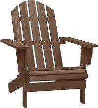 vidaXL Chaise de jardin Bois Marron