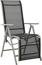vidaXL Chaise de jardin inclinable Textilène et