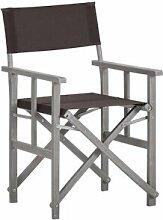 vidaXL Chaise de metteur en scène Bois massif