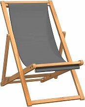 Vidaxl - Chaise de plage pliable Bois de teck