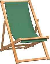 vidaXL Chaise de plage pliable Bois de teck solide