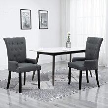 vidaXL Chaise de salle à manger avec accoudoirs
