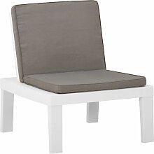 vidaXL Chaise de salon de jardin avec coussin