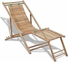vidaXL Chaise de terasse en Bambou avec