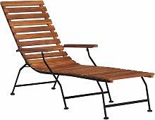 Vidaxl - Chaise de terrasse d'extérieur Bois