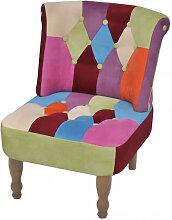 vidaXL Chaise en style français avec design de