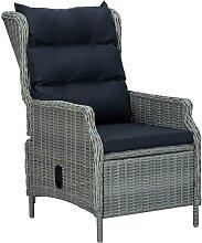 vidaXL Chaise inclinable de jardin coussins