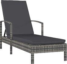 vidaXL Chaise longue avec accoudoirs Résine