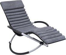 vidaXL Chaise longue d'extérieur avec coussin