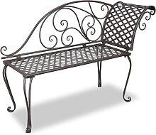 vidaXL Chaise longue de jardin 128 cm Acier