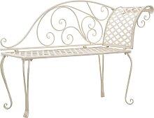vidaXL Chaise longue de jardin 128 cm Métal