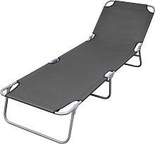 vidaXL Chaise longue pliable avec dossier