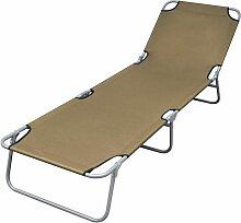 Vidaxl - Chaise longue pliable avec dossier