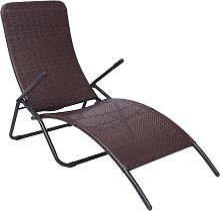 vidaXL Chaise longue pliable Rotin synthétique