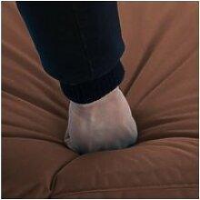 Vidaxl chaise longue pliable tissu oxford marron