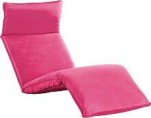 vidaXL Chaise longue pliable Tissu Oxford Rose