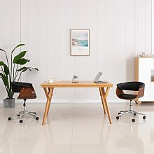 vidaXL Chaise pivotante de bureau Noir Bois