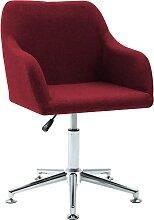 vidaXL Chaise pivotante de bureau Rouge bordeaux