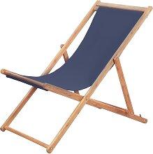 vidaXL Chaise pliable de plage Tissu et cadre en