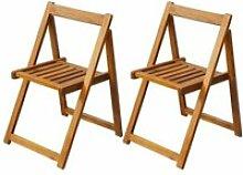 Vidaxl chaise pliante d'extérieur 2 pièces