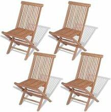 Vidaxl chaise pliante d'extérieur 4 pièces