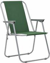 Vidaxl chaise pliante de camping 2 pcs 52 x 59 x