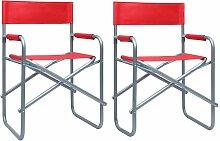 Vidaxl - Chaises de metteur en scène 2 pcs Acier