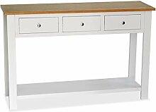 vidaXL Chêne Massif Table Console Table