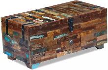 vidaXL Coffre table basse Bois de récupération