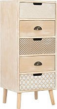 vidaXL Commode à 5 tiroirs 40 x 35 x 95,5 cm