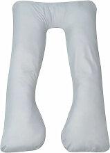 vidaXL Coussin de grossesse 90 x 145 cm Gris