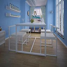 vidaXL Ensemble de table et chaises de salle à